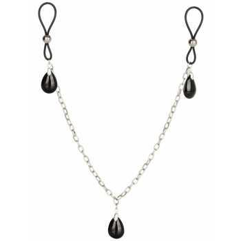 Šperk na bradavky s řetízkem ONYX