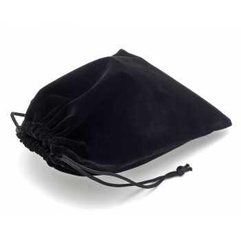 Sametový pytlík - černý (8x17 cm)