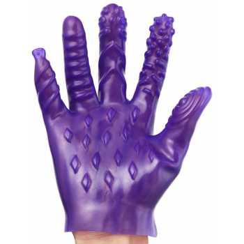 Masturbační rukavice se stimulačními výstupky - 1 ks
