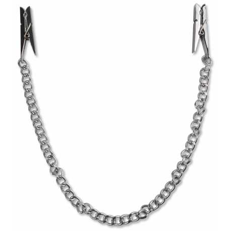 Svorky na bradavky ve tvaru kolíčků s řetízkem