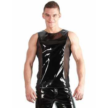 Lakované tričko bez rukávů se síťovanými boky (pro muže)
