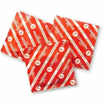 Kondom London (červené - jahodové)