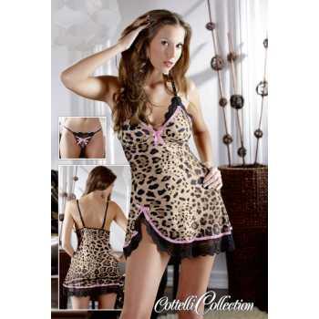 Košilka s leopardím vzorem Lea + tanga