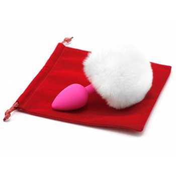 Anální kolík s ocáskem (králík), bílý
