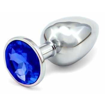 Anální kovový kolík - tmavě modrý