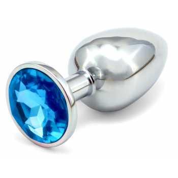Anální kovový kolík - světle modrý