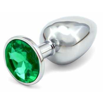 Anální kovový kolík - tmavě zelený