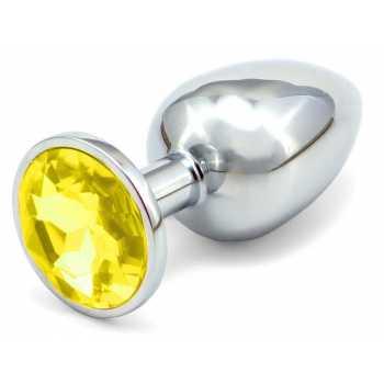 Anální kovový kolík - žlutý