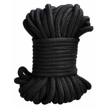 Lano na bondage - černé, 20 m