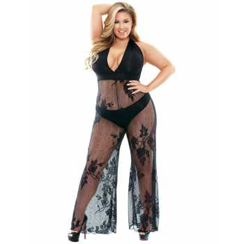 Catsuit Nicki - s hlubokým výstřihem a širokými nohavicemi