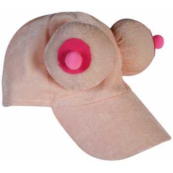 Plyšová kšiltovka s prsy
