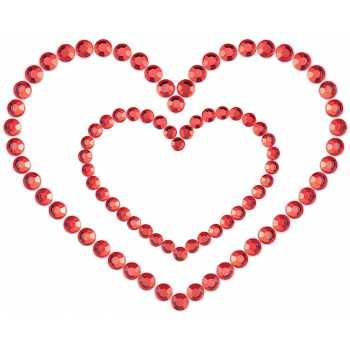 Samolepicí ozdoby na prsa MIMI Heart - Bijoux Indiscrets