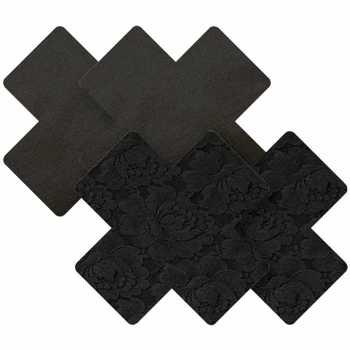 Samolepicí ozdoby na bradavky Black Cross - Nippies