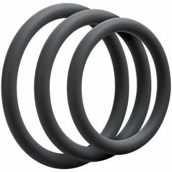 Sada tenkých erekčních kroužků OptiMALE Thin - 3 ks