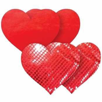 Samolepicí ozdoby na bradavky Red Heart - Nippies
