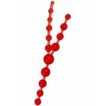 Trojité anální kuličky (červené)