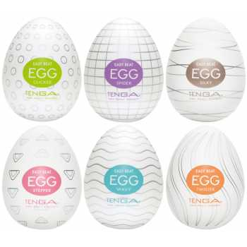 Výhodné balení masturbátorů pro muže TENGA Egg - 6 ks