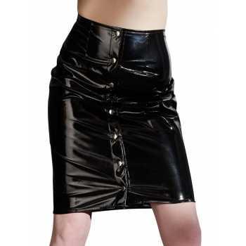 Lakovaná sukně s druky - Black Level