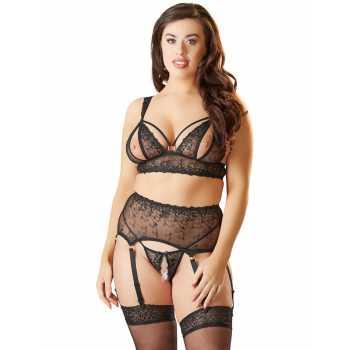Souprava krajkového erotického prádla - plus size