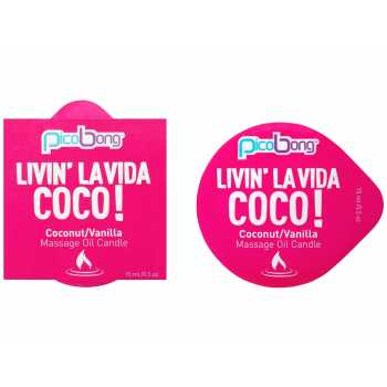 Masážní svíčka PicoBong Coconut & Vanilla - 15 ml