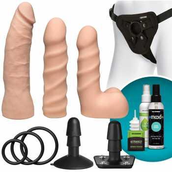 Sada připínacích penisů, harnesu a příslušenství Vac-U-Lock STARTER