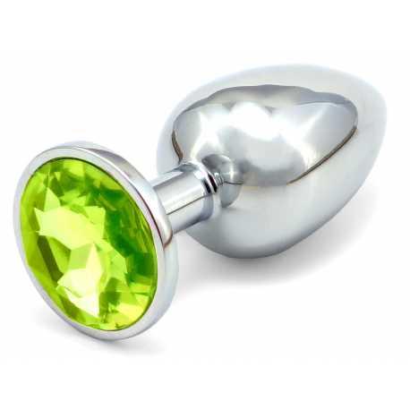 Malý anální kolík s krystalem - světle zelený